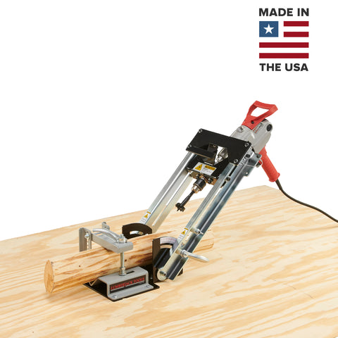 Drill Sergeant - Angle Driller for drilling mortise holes in logs. USA Made