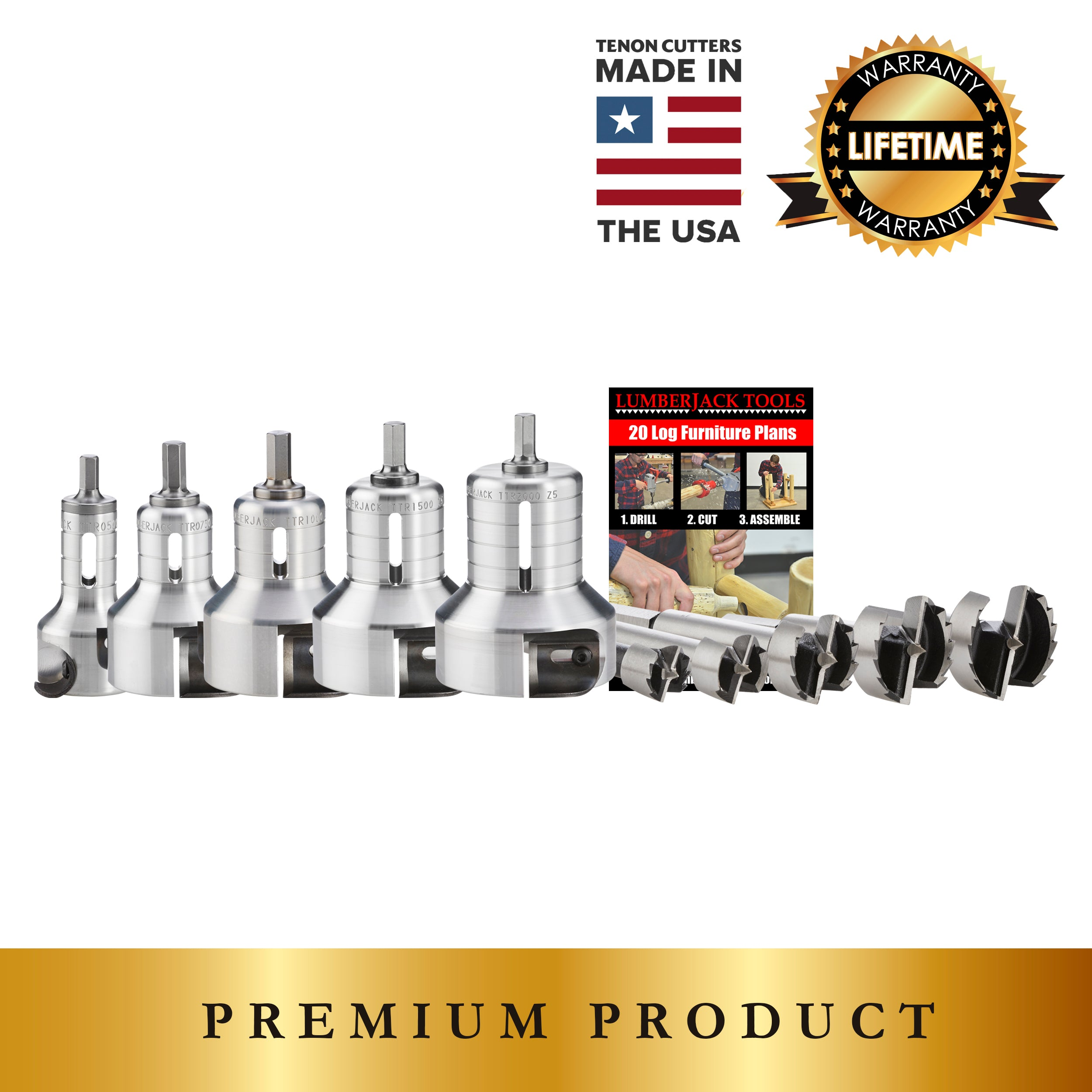 Pro Series Professional Kit - USA made premium tenon cutters