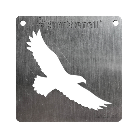 BurnStencil™ - Eagle (Soaring)