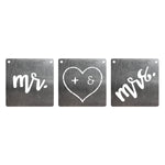 BurnStencil™ - Mr & Mrs 3 Pack