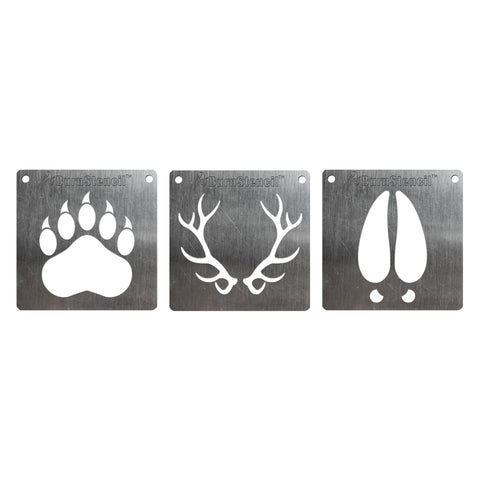 Wood BurnStencil™ - Tracks & Antlers 3 Pack
