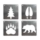 BurnStencil™ Mini Wildlife 4 Pack