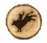 Wood Burning Stencil - Cowboy Bull Rider