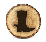 Wood Burning Stencil - Cowboy Boot