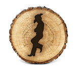 Wood Burning Stencil - Cowboy Silhouette