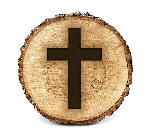 Wood BurnStencil™ - Cross