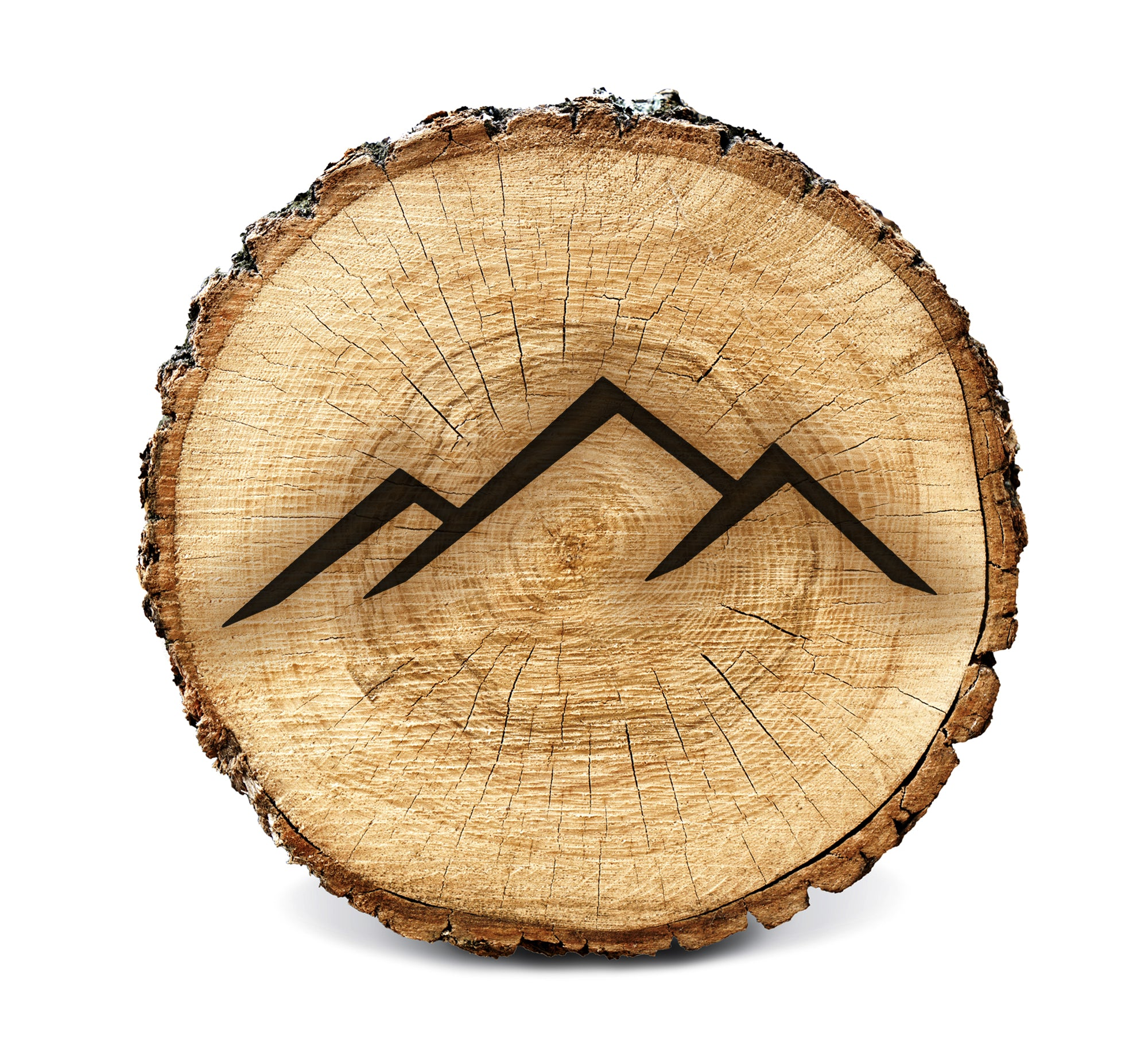 Wood Burning Stencil - Mountains