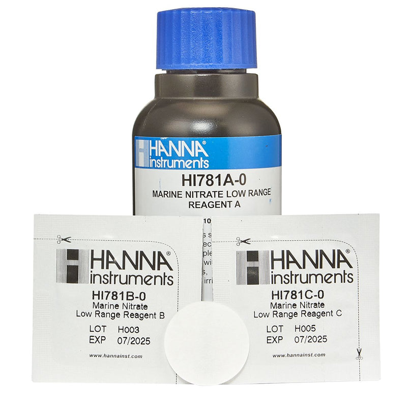 HANNA NITRATE LOW RANGE CHECKER REAGENTS LR HI781-25 (25 TESTS)