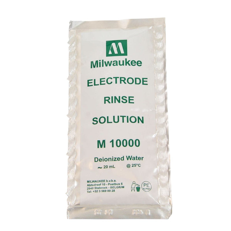MILWAUKEE INSTRUMENTS ELECTRODE RINSE SOLUTION SINGLE USE PACKET M10000B