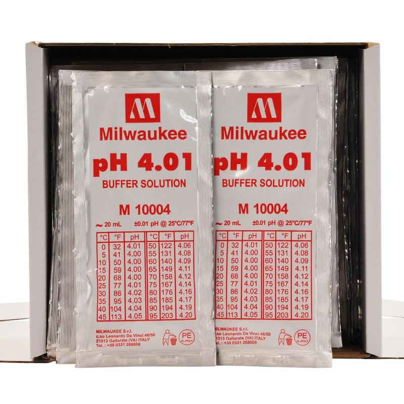 MILWAUKEE INSTRUMENTS pH 4.01 CALIBRATION SOLUTION BOX OF 25