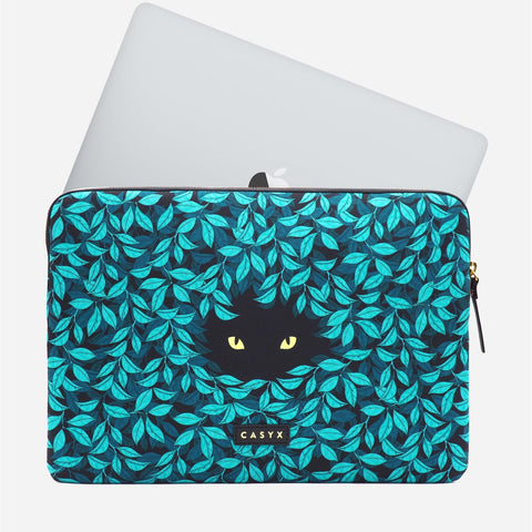 Apple MacBook Pro Laptop sleeve - Casyx Spying Cat 12 inch 13 inch Peppertrend