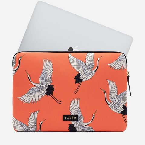 Apple MacBook Pro Laptop sleeve - Casyx Coral Cranes 15 inch 16 inch