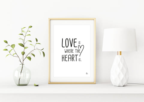 Poster - Love is where the heart is