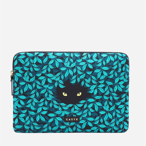 Apple MacBook Pro Laptop sleeve - Casyx Spying Cat 15 inch 16 inch Peppertrend clean