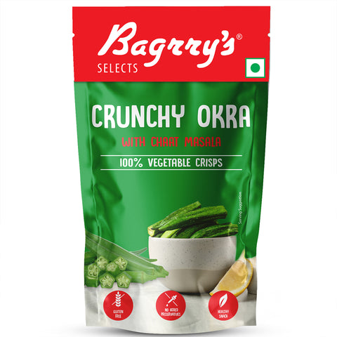 Crunchy Okra Chips with Chaat Masala (Pack of 3)