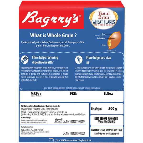 Total Bran Wheat Flakes - No Added Sugar
