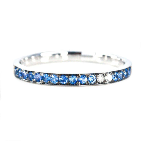 Blue Sapphire Eternity Ring - Prime Adore