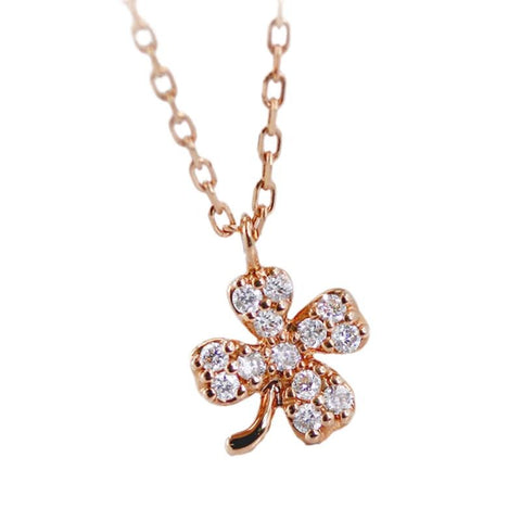 Four-Leaf Clover Chain Necklace - Prime Adore