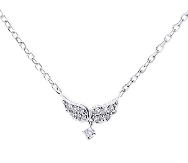 Sparkling Angel Wing Necklace - Prime Adore