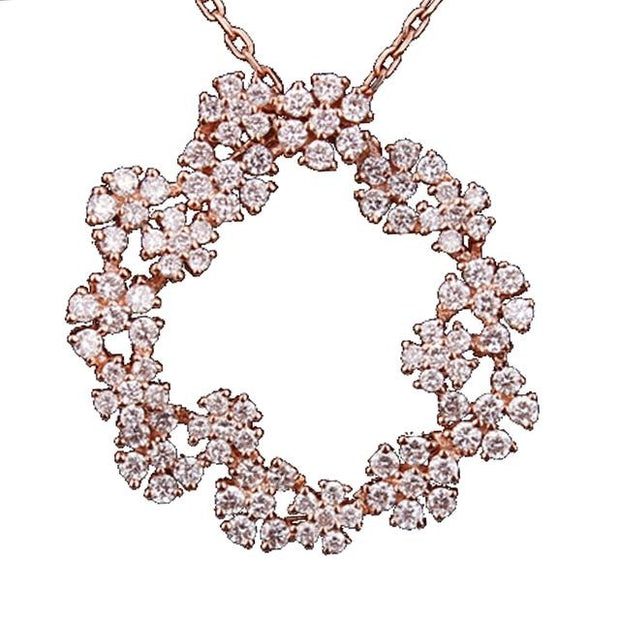 Diamond Snowflake Wreath Necklace - Prime Adore