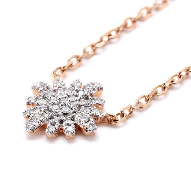 Sunflower Diamond Necklace - Prime Adore