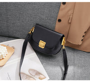 Leather Crossbody Saddle Bag - Prime Adore