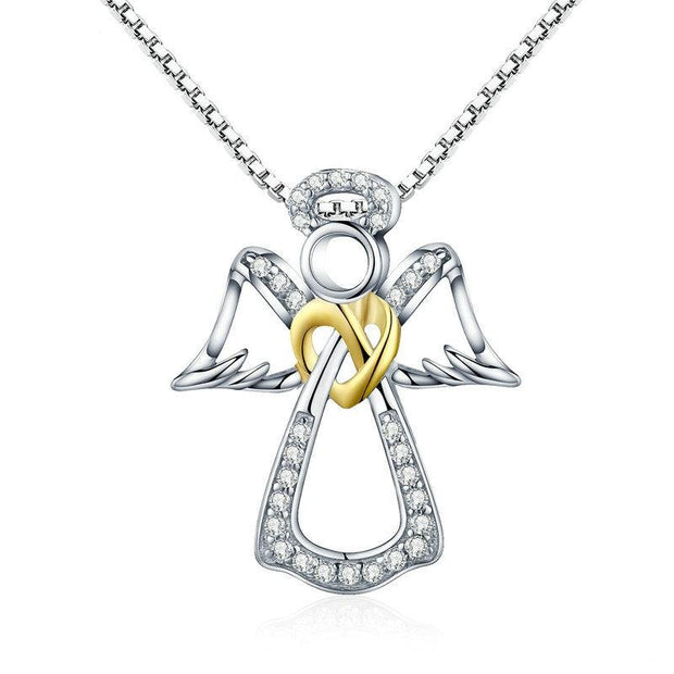 Angel Heart Pendant Necklace - Prime Adore