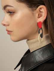Geo Resin Abstract Earrings - Prime Adore