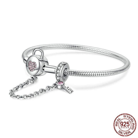 Heart Lock Safety Snake Chain - Prime Adore