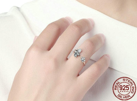 Bee to Flower Adjustable Ring - Prime Adore