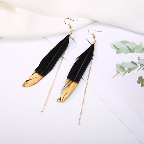 Golden Tip Angel Wing Earrings - Prime Adore