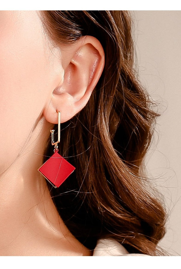 Korean Prime Squares Earrings - Prime Adore