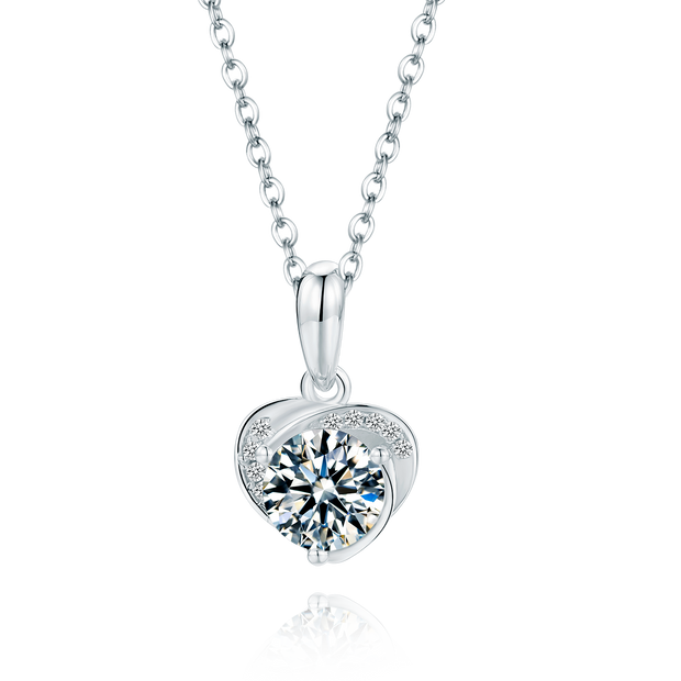 Lovely Heart Moissanite Necklace - Prime Adore