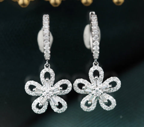Prime Adore Diamond Flower Earrings - Prime Adore