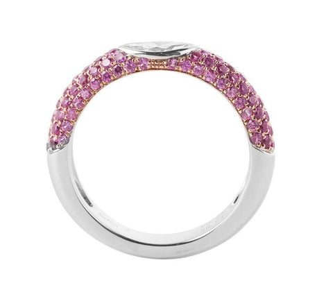 Infinity Pink Sapphire Wedding Ring - Prime Adore