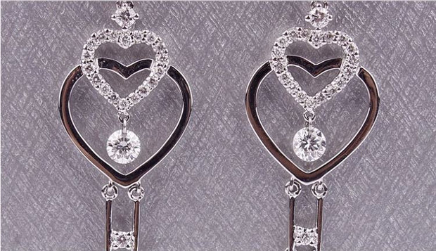 Double Heart Infinity Key Earrings - Prime Adore