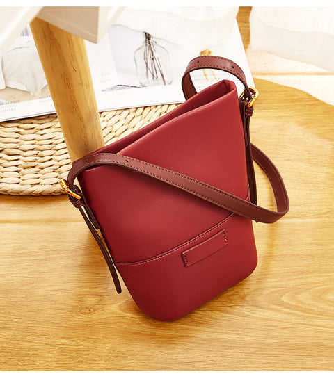 Korean Casual Leather Bag - Prime Adore
