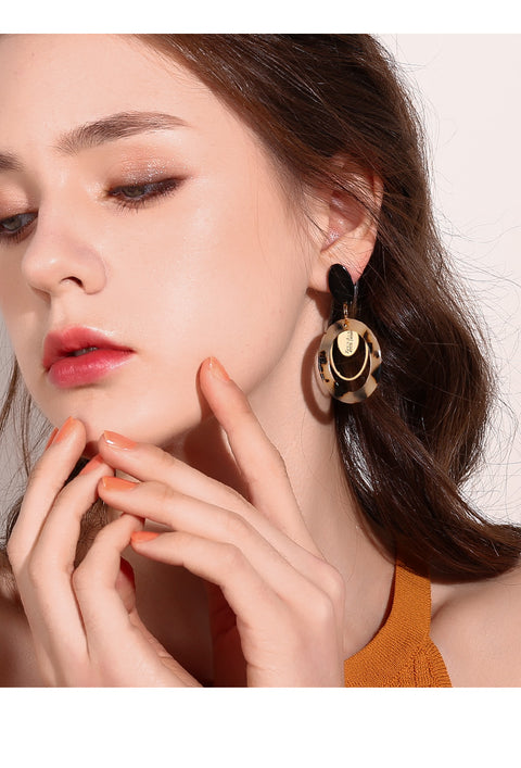 Leopard Print Retro Earrings - Prime Adore