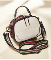 Wide Shoulder Leather Handbag - Prime Adore