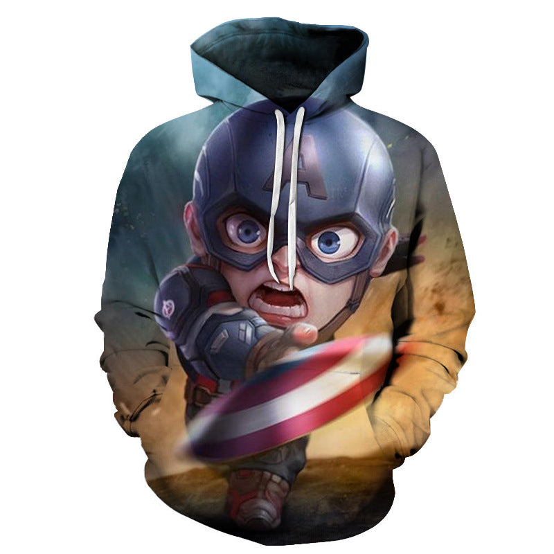Marvel Hoodie 3D Hooded Long Sleeve