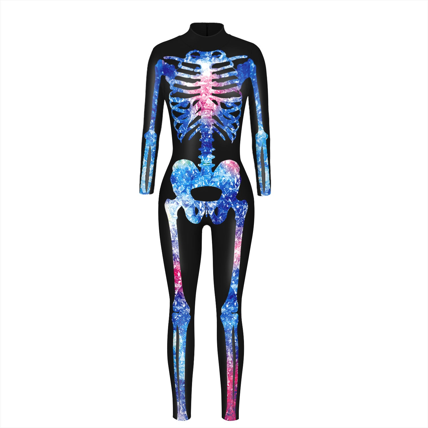 Halloween explosion 3 skeleton digital jumpsuit