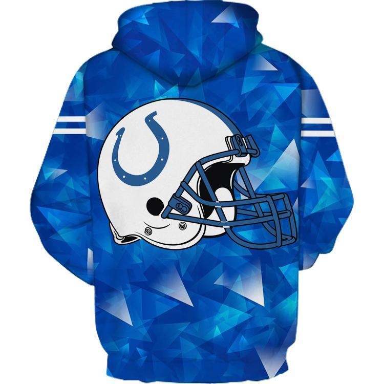 Indianapolis Colts 3D Printed Hooded Pocket Pullover Hoodie