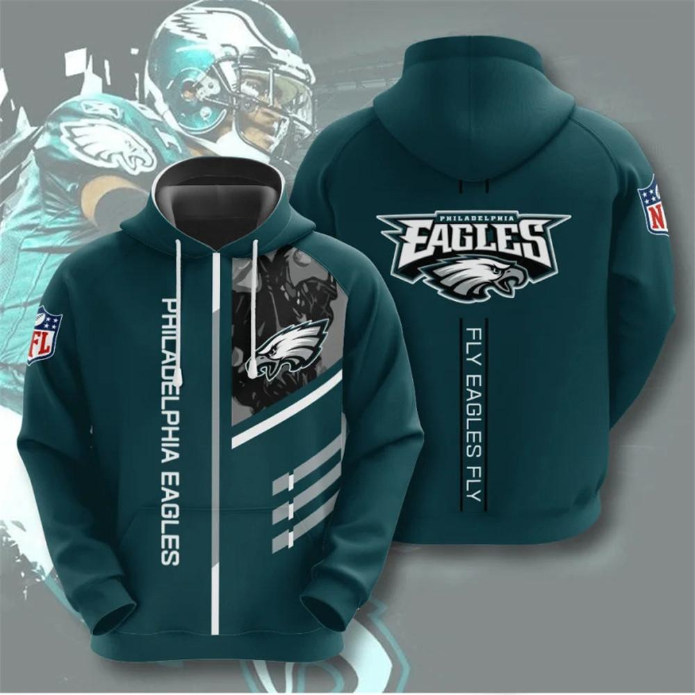 Philadelphia Eagles 3D Printed Hooded Pocket Pullover Hoodie