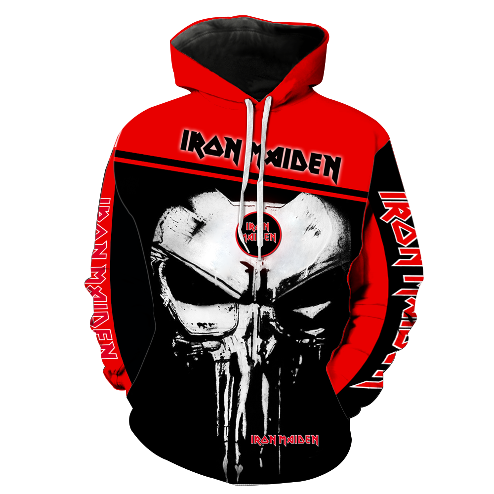 Iron Maiden Punisher Skull  Full All Over Printed Hoodie