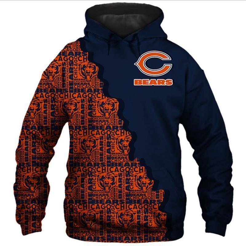 Chicago Bears Wavy Twill Warm Hoodie