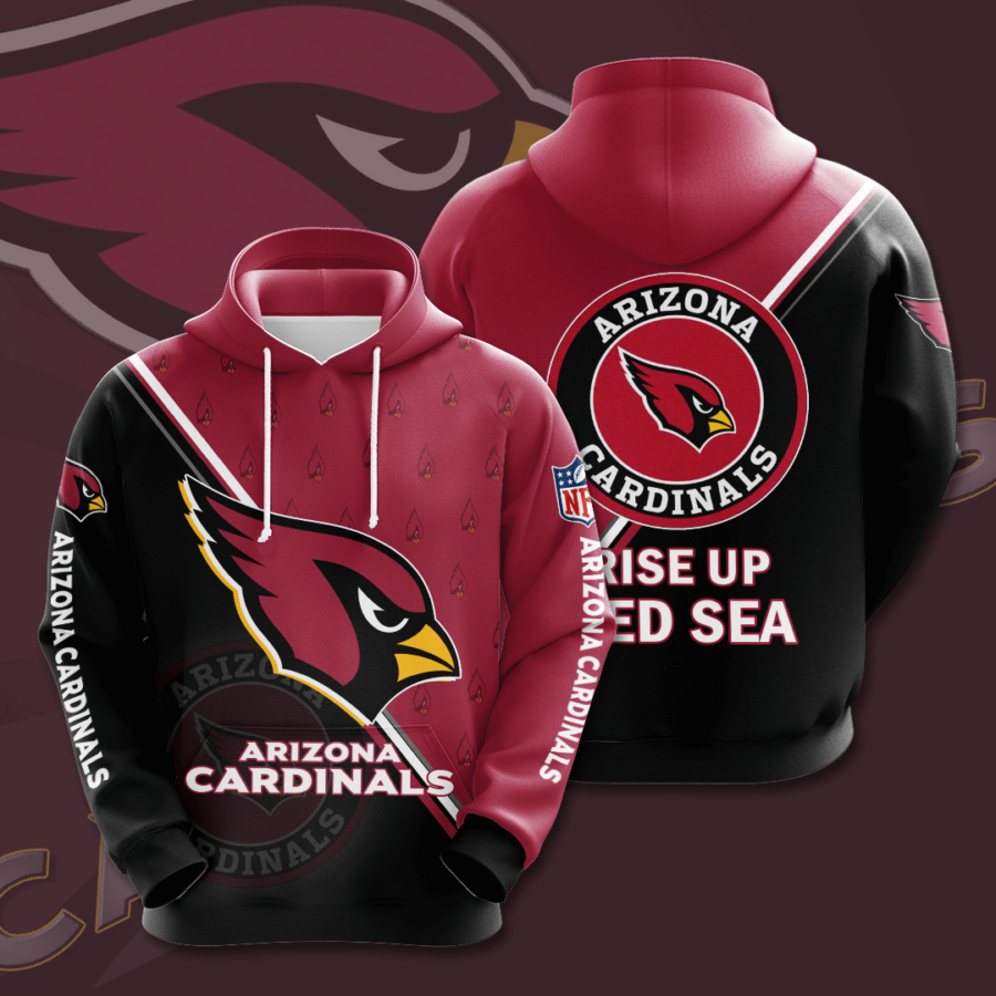 Arizona Cardinals 3D Printed Hooded Pocket Pullover Hoodie
