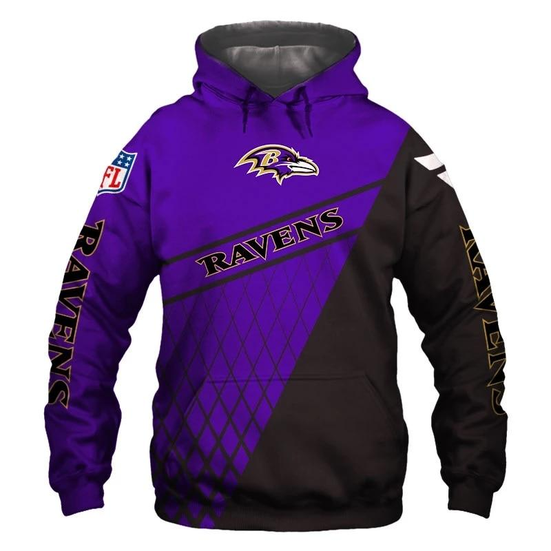 Baltimore Ravens Hoodie Mens 3D With Hooded