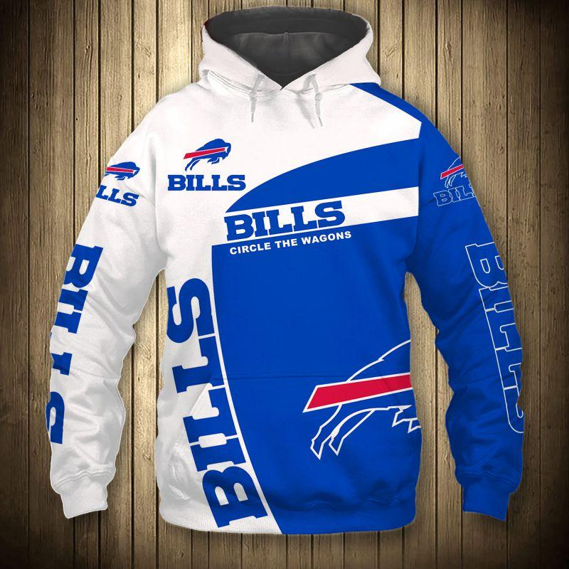 Buffalo Bills Zip Hoodie 3D Long Sleeve