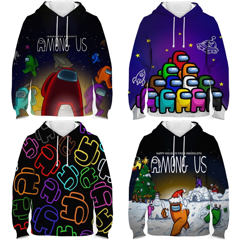 New Video Game Men Impostor Graphic Anime Hoodies