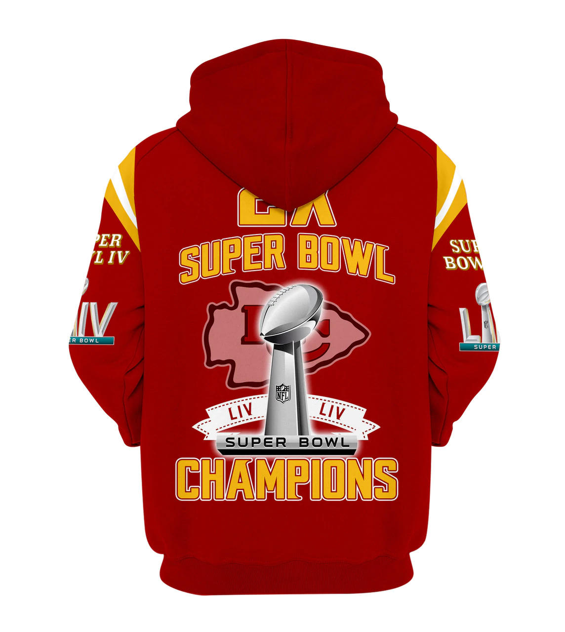 Kansas City Chiefs Zip Up Hoodies 3D Super Bowl LIV